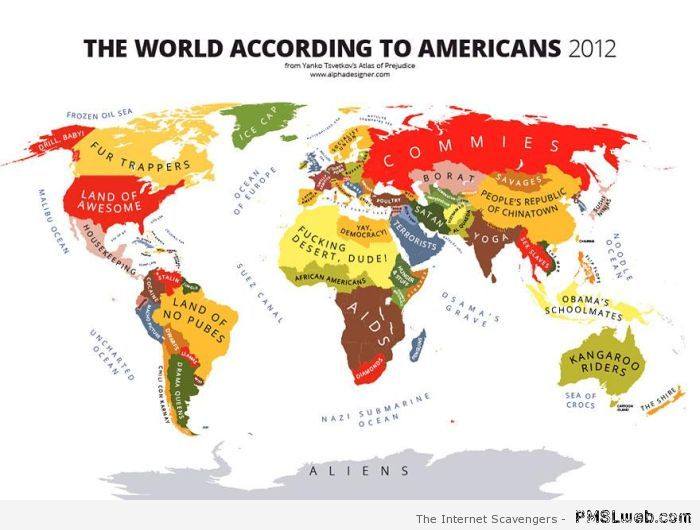 Stereotypes - the world seen by Americans