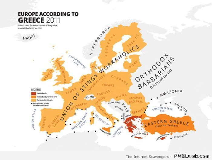 Europe seen by Greece