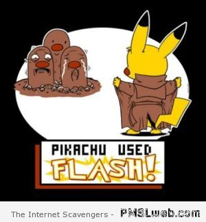 Pikachu uses flash funny - Fake Pokemon trailer at PMSLweb.com
