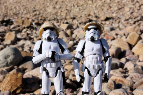 troopers at the beach