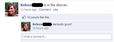 Facebook in the shower
