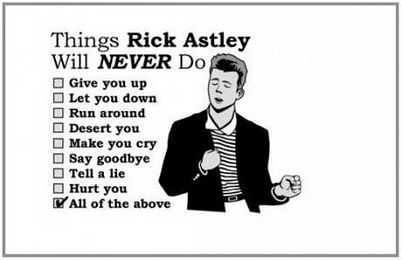 Rick Astley's rules