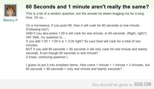 60 seconds & and minute