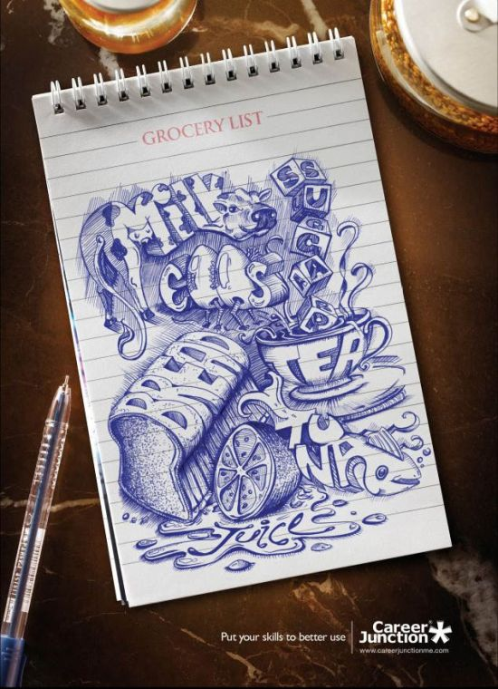 grocery list art