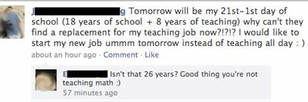 teacher facebook fail