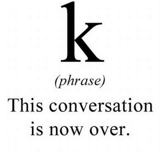 K text message meaning