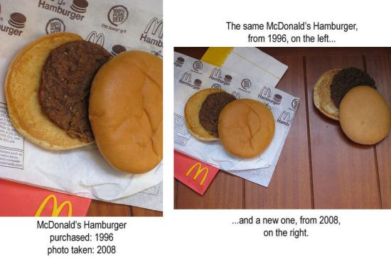 old mcdonald hamburger