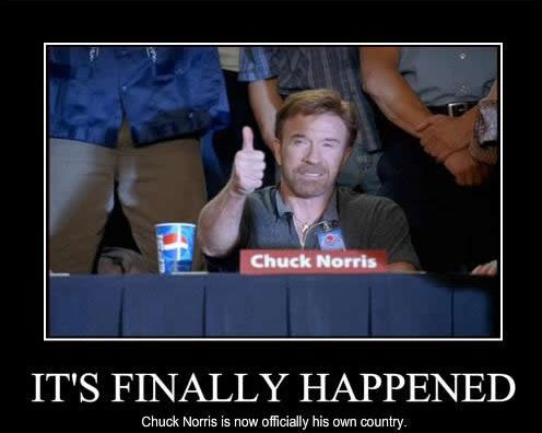 chuck norris it's finally happened