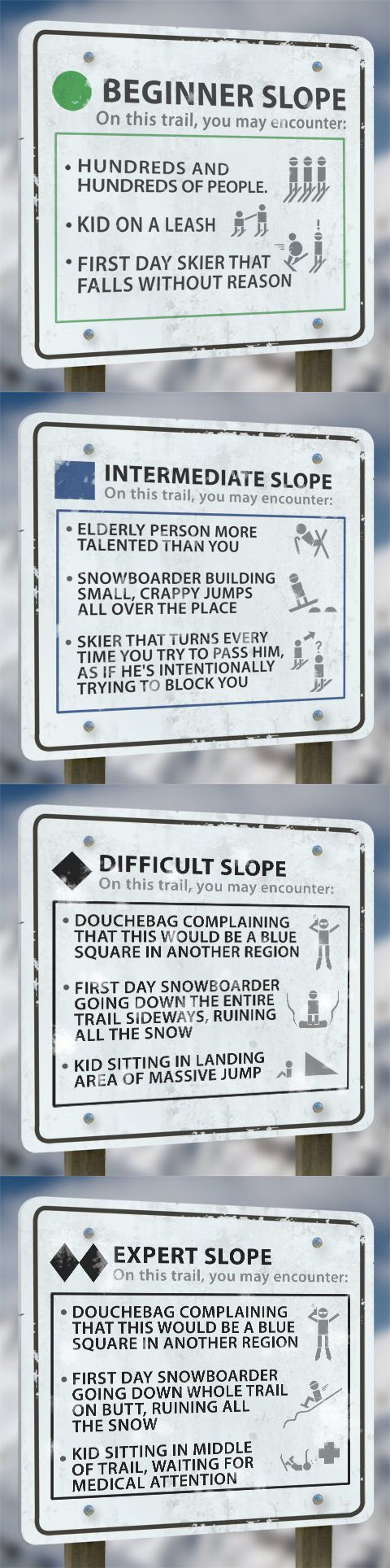 ski slopes funny