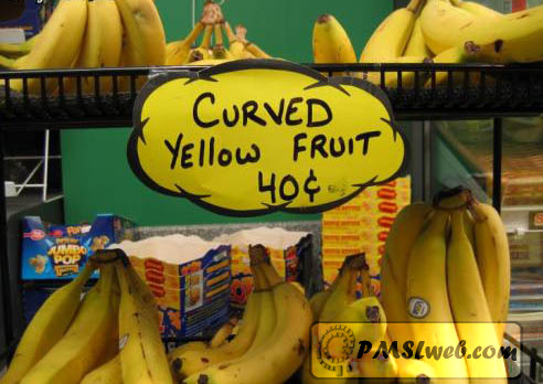 curved yellow fruit humor