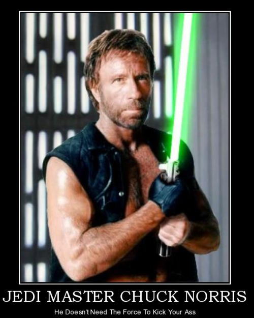 chuck norris doesn't need to use the force