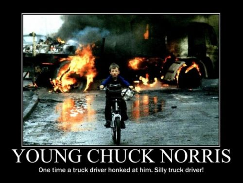 young chuck norris and the truck