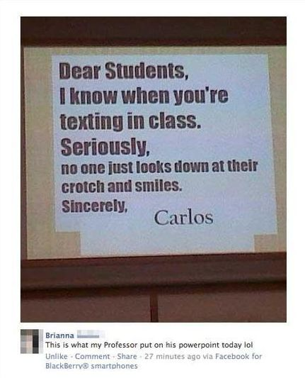 Teacher owns students