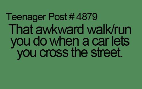 the weird way you cross the road