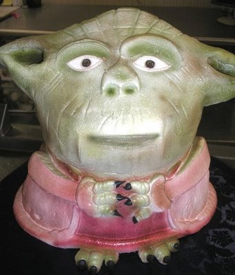Yoda wears pink