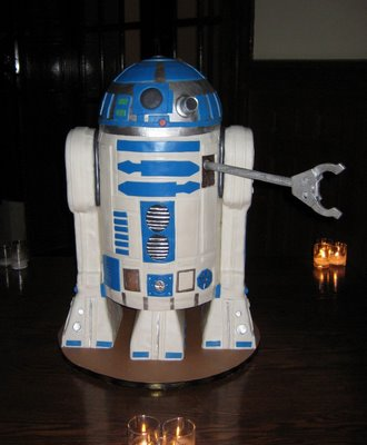 the R2d2 cake