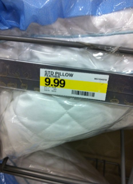 cheap STD pillow