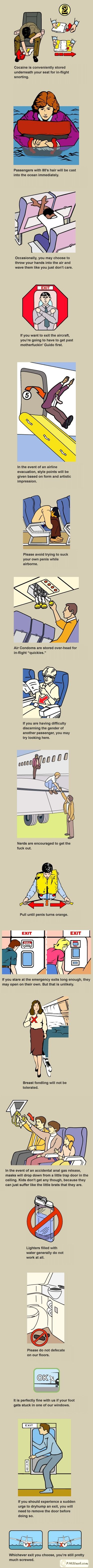Plane safety card humor