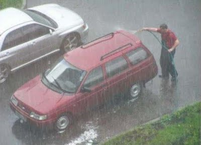 washing your car in the rain fail