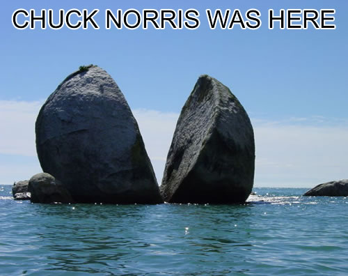 chuck norris breaks rock