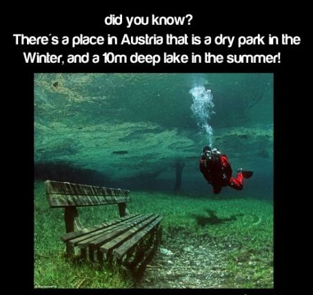 dry and wet park in Austria