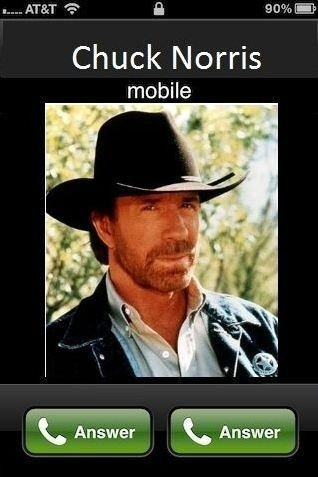 chuck norris calls on iPhone