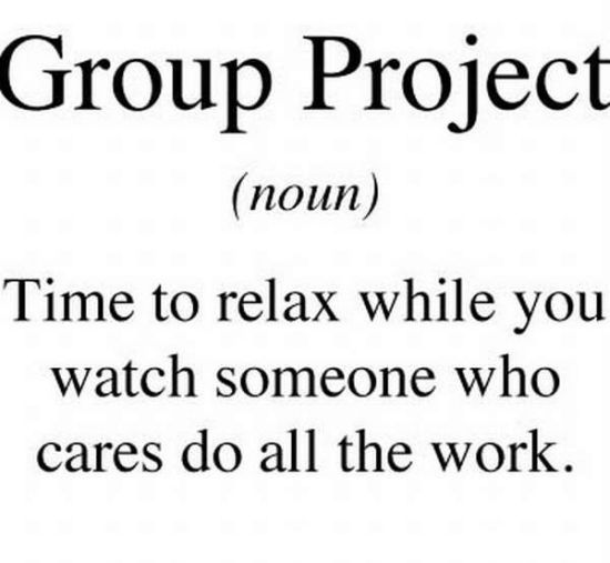 What does group project mean