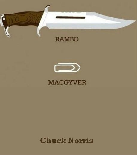 chuck norris versus mcgyver and rambo