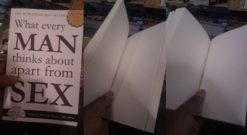 a blank book dedicated to men's thoughts