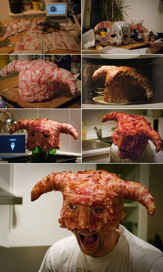 bacon mask creation