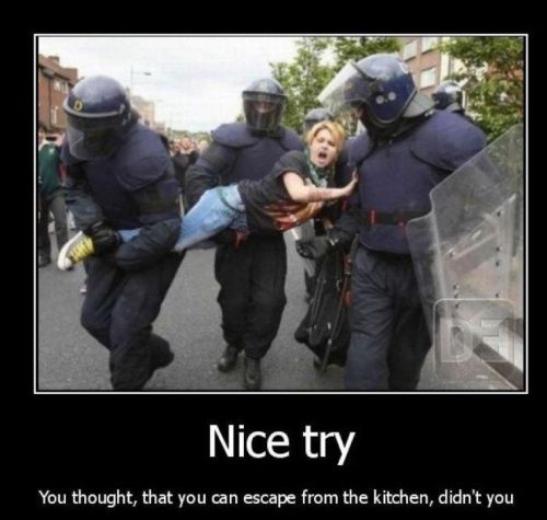 escaping the kitchen demotivational