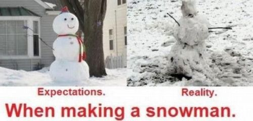 what to expect when making a snowman
