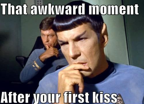 Spock's first kiss