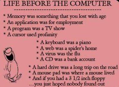 life before the computer age