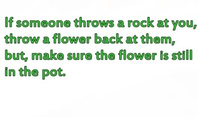 throw a flower back in a pot