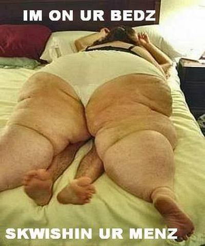 fat lady in bed with skinny man