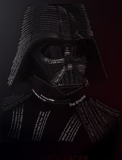 darth vador word art