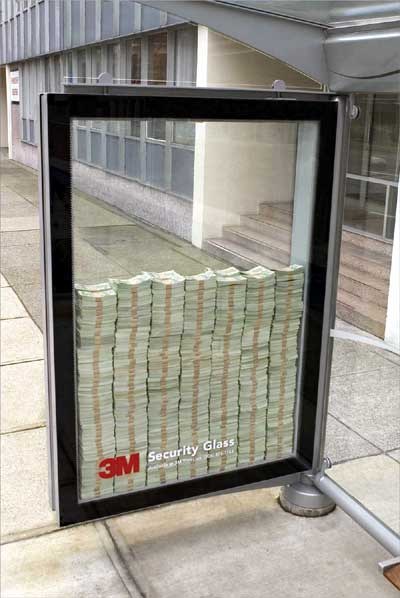 security glass advertising