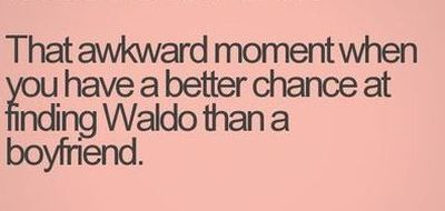 that awkward waldo boyfriend moment
