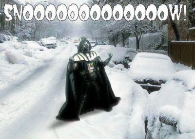 darth vador crying snow