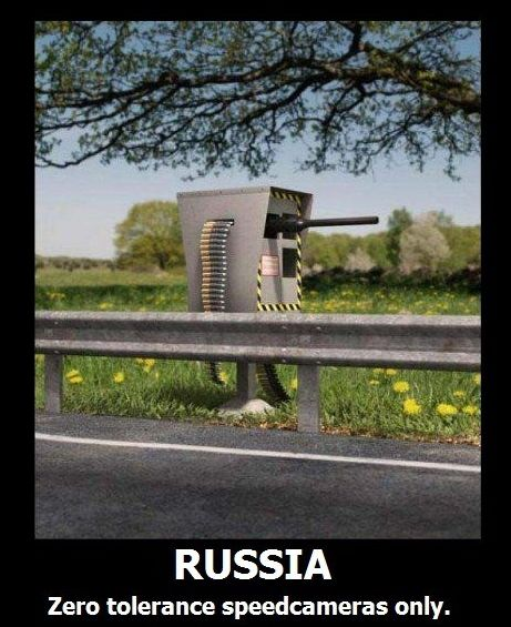 Russia has zero tolerance speed cameras