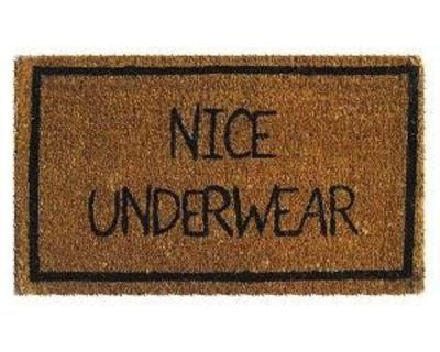 nice underwear welcome mat