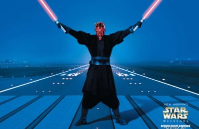 darth maul plane landing