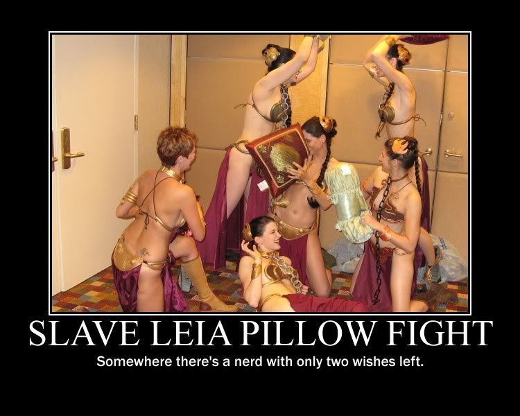 slave leia pillow fight demotivational