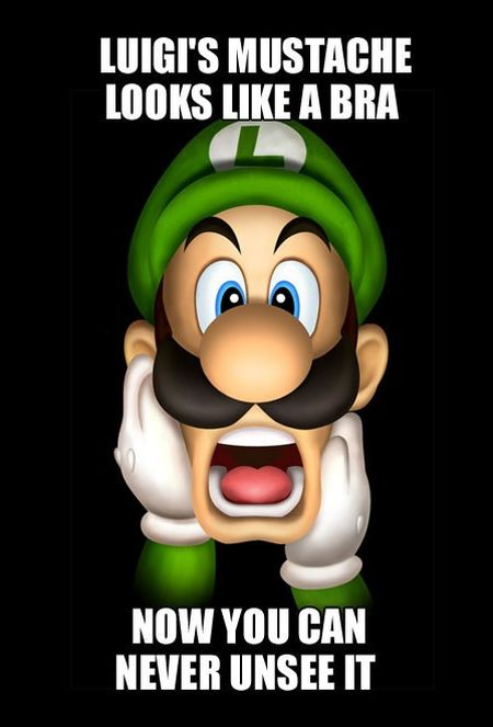 ever noticed that luigi s mustache looks like a bra