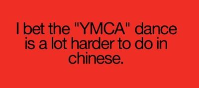 doing YMCA is harder in chinese