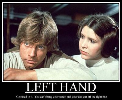 left hand luke skywalker demotivational