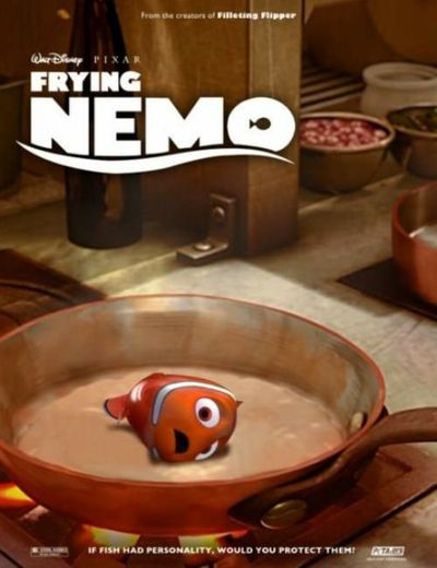 frying nemo disney funny