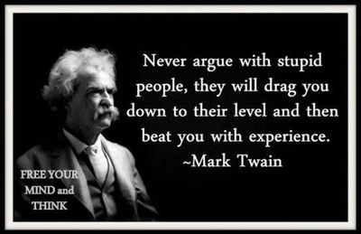 mark twain never argue with stupid people