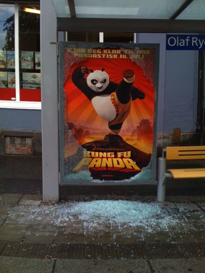 broken glass kungfu panda advert